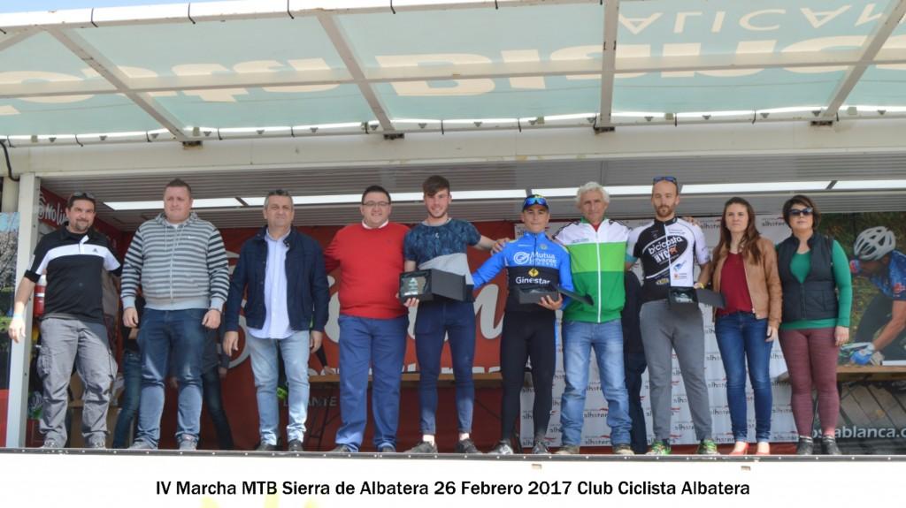 MTB Albatera 2017 Podio Locales